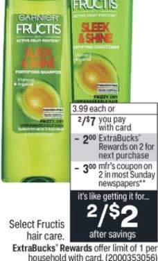 Garnier Fructis Shampoo CVS Deal  8/22-8/28
