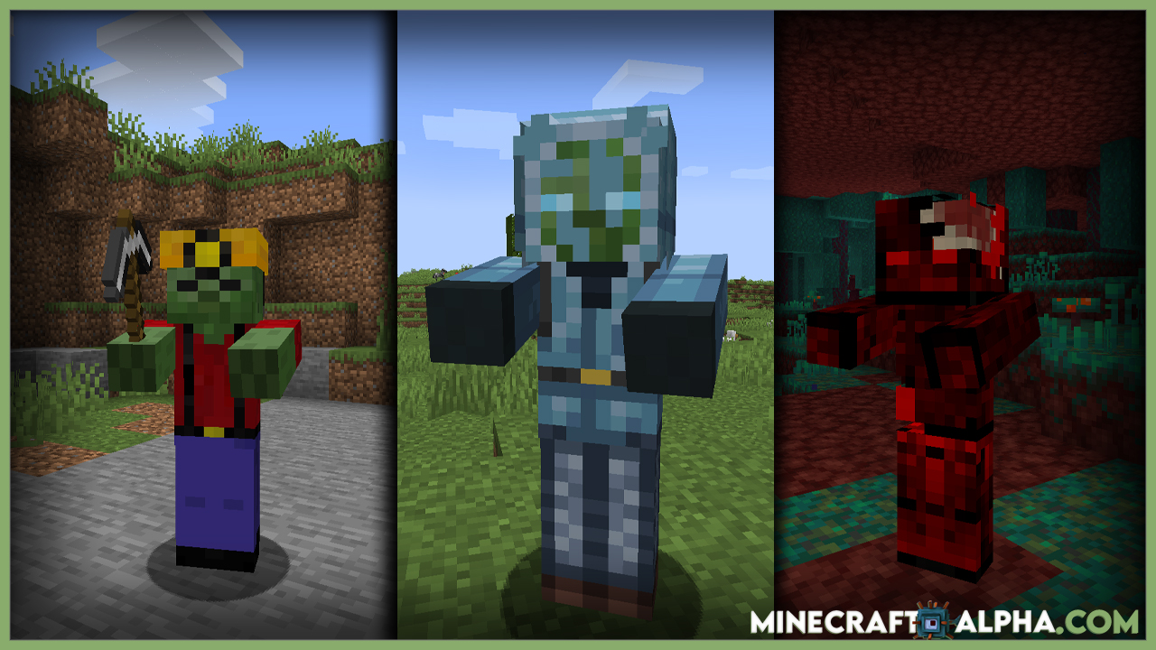 Zombified Mod 1.17.1 (Different Types of Zombie)
