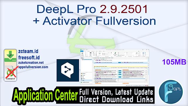 DeepL Pro 2.9.2501 + Activator Fullversion