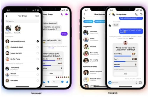 Facebook allows group chat between Instagram and Messenger
