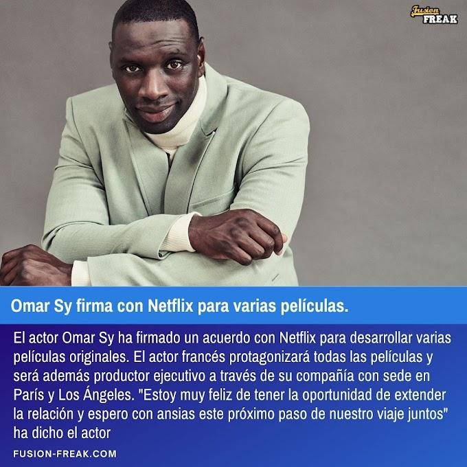 El actor Omar Sy firma con Netflix para varias películas.