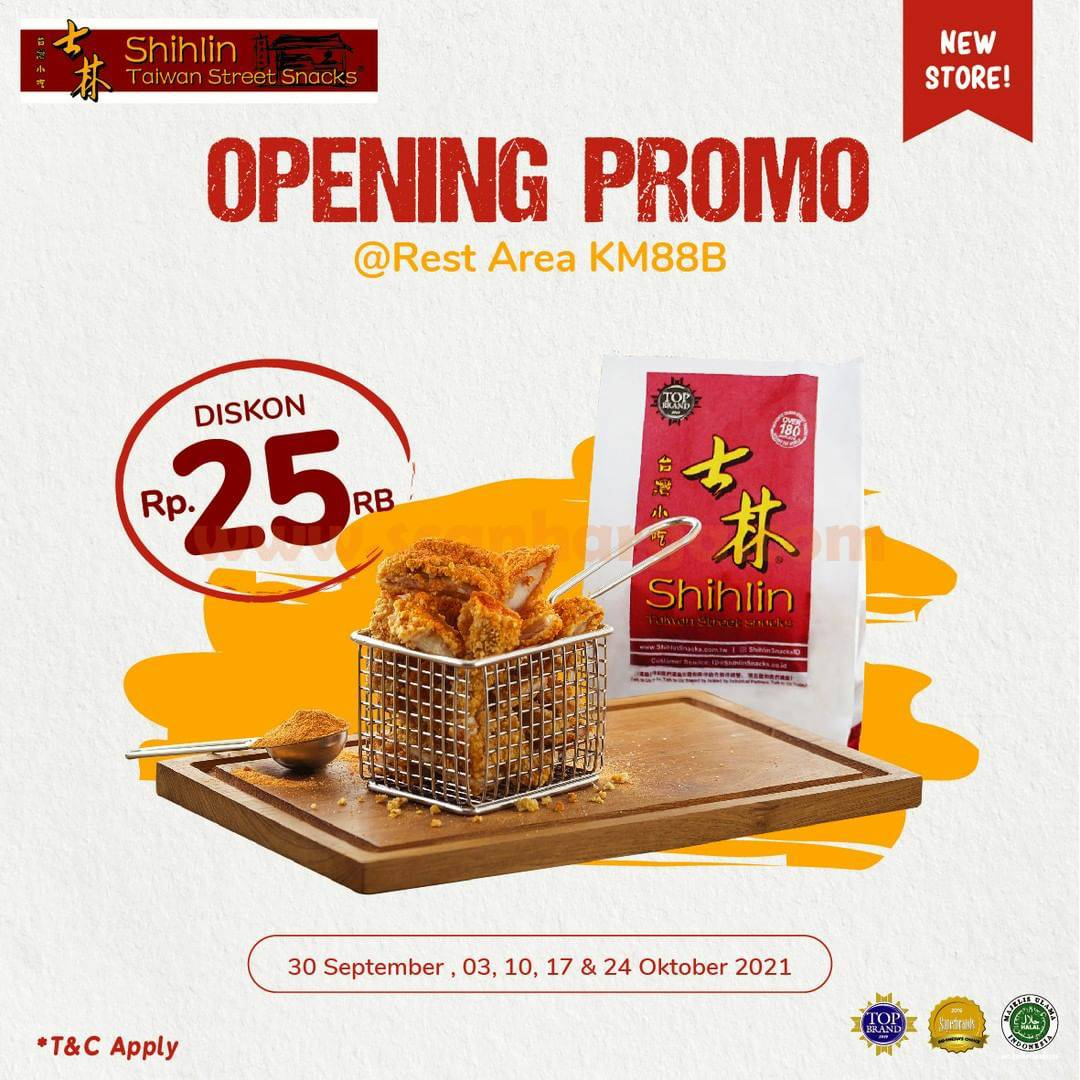 Shihlin Rest Area KM 88B Tol Cipularang Promo Opening Diskon Rp. 25.000