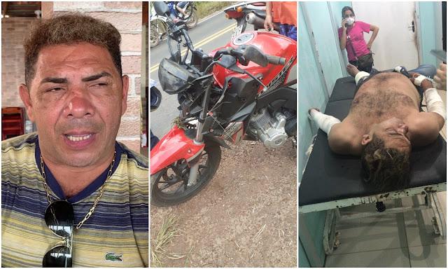 Blog do Gilberto Lima: Cantor Edésio Nascimento, o 'milionário do brega', sofre grave acidente de moto em Pinheiro