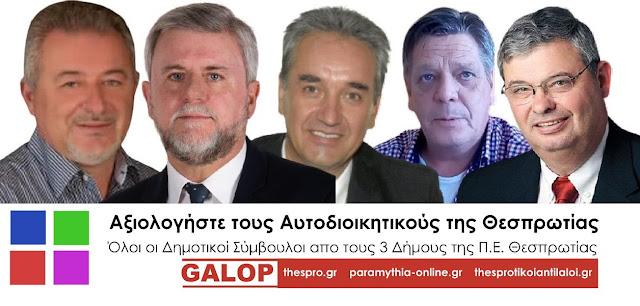 Γκάλοπ για τους Δήμους της Θεσπρωτίας και την Περιφέρεια