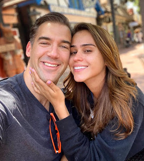 Lewis Howes with his former partner Yanet Garcia