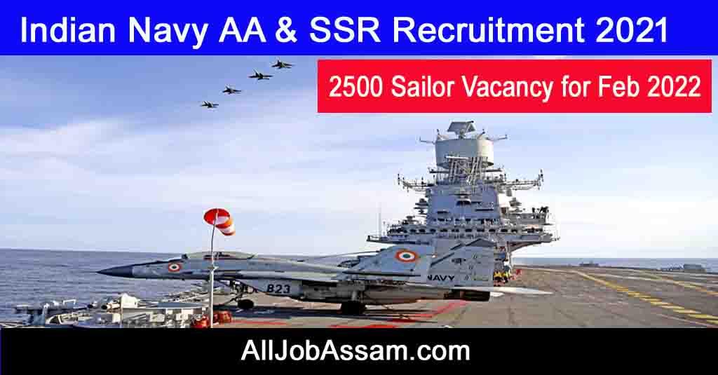 Indian Navy AA & SSR Recruitment 2021