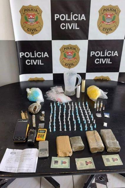 Polícia Civil apreende drogas - Pai e filho são presos