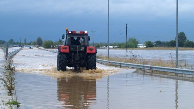 Πλημμύρες στη Βόρεια Εύβοια προκάλεσε η βραδινή καταιγίδα
