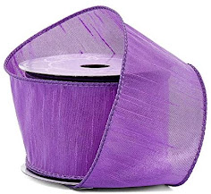 Purple Taffeta Ribbons For Craft or Decor Projects