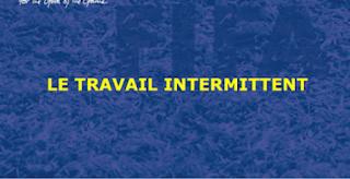 stage LE TRAVAIL  INTERMITTENT PDF