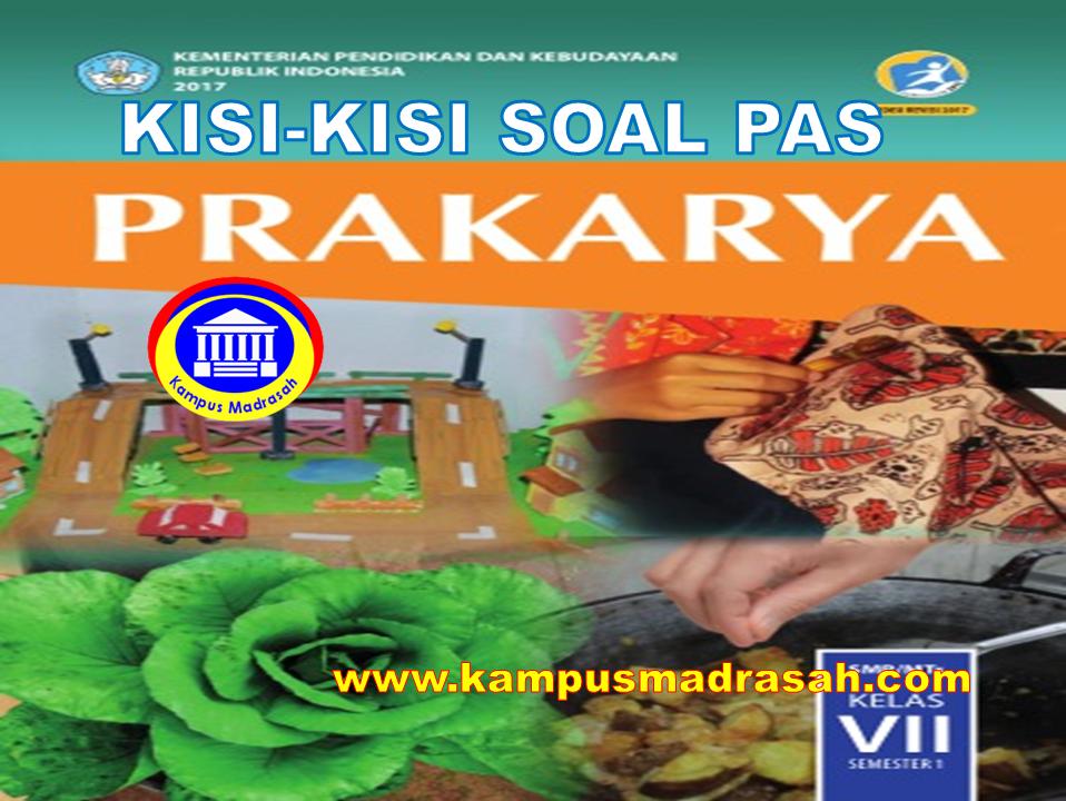 Kisi-kisi Soal PAS  Prakarya
