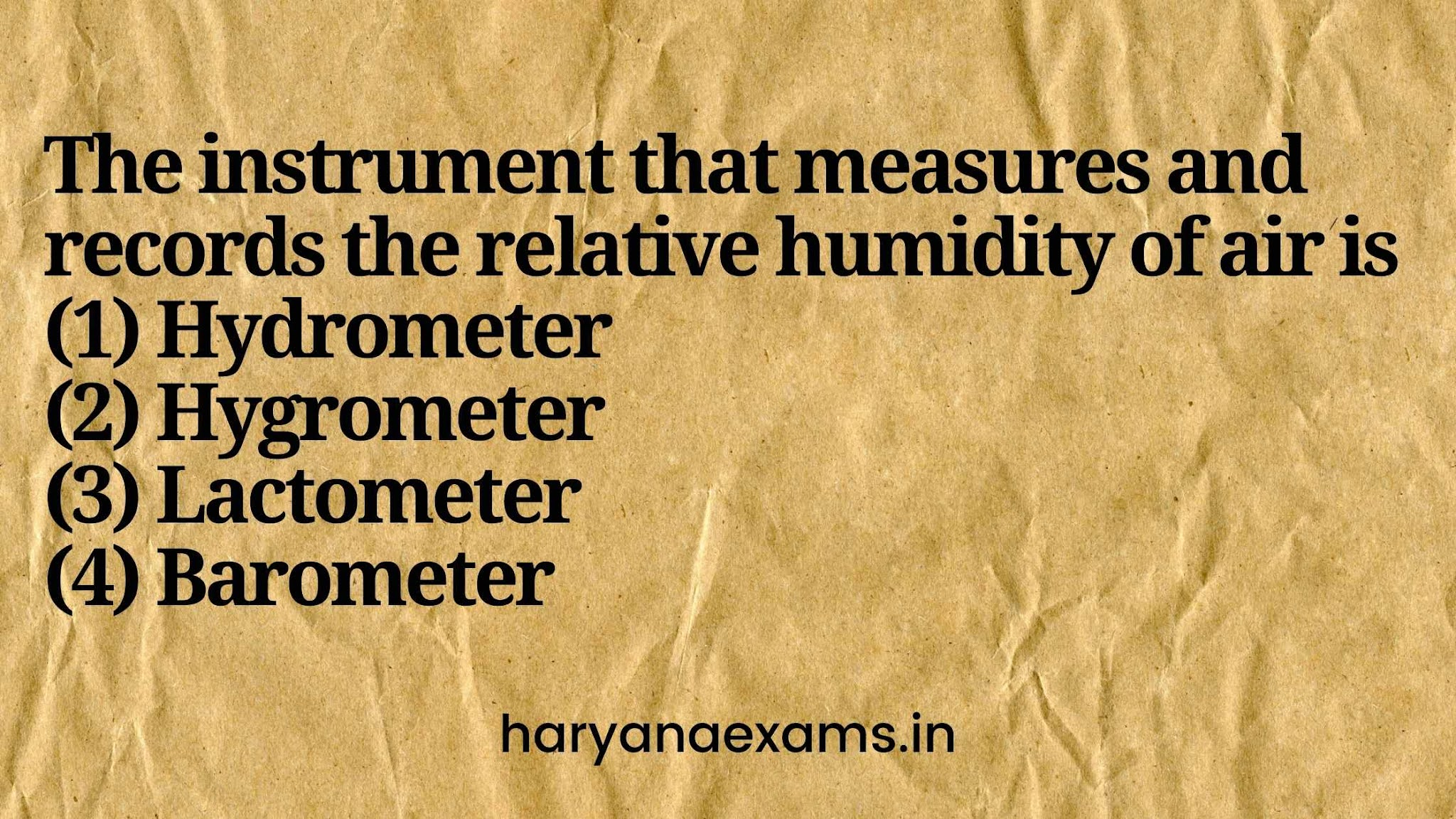 The instrument that measures and records the relative humidity of air is