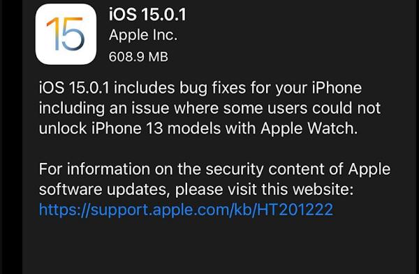 Download iOS 15.0.1 & iPadOS 15.0.1 IPSW for iPhone/iPad