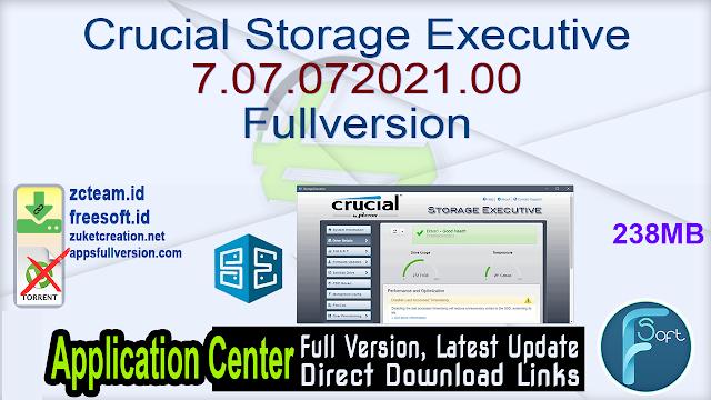 Crucial Storage Executive 7.07.072021.00 Fullversion