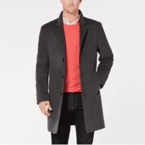 $150, Michael Michael Kors Men's Madison Luxury Italian Fabric Modern-Fit Overcoat