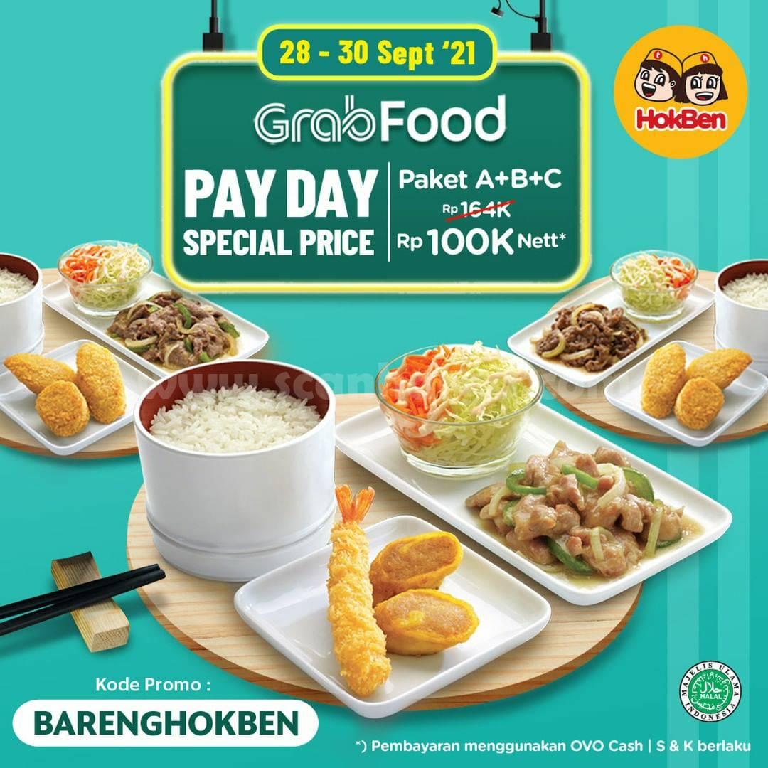 Promo HOKBEN PAYDAY 30 September 2021 via GOFOOD & GRABFOOD 2