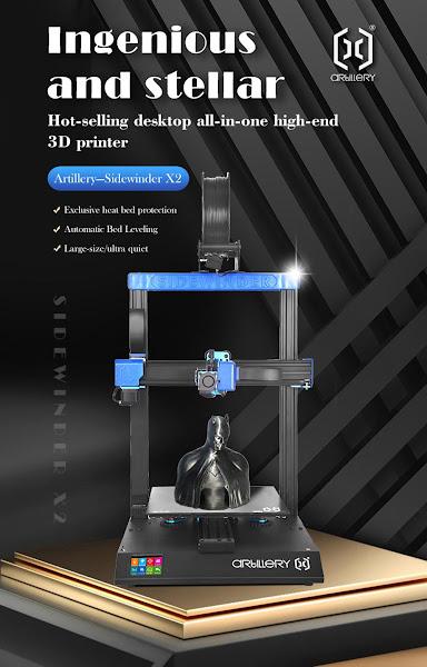 Precisas de uma impressora 3D? Vê esta Artillery Sidewinder X2
