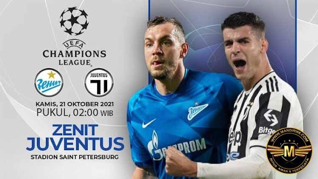 Prediksi Zenit St Petersburg Vs Juventus
