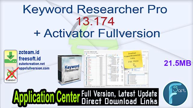 Keyword Researcher Pro 13.174 + Activator Fullversion
