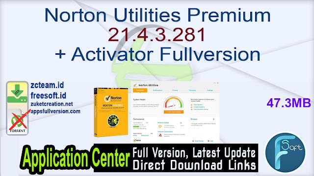Norton Utilities Premium 21.4.3.281 + Activator Fullversion