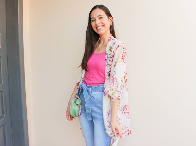 Look floral + pink!