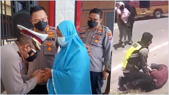 Aksi Barbar Polisi Hajar Pengendara Motor, Kapolres dan Kasatlantas Minta Maaf ke Keluarga