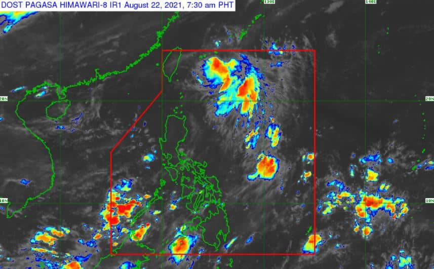 Satellite image of Severe Tropical Storm 'Isang' as of 7:30 pm, August 22, 2021