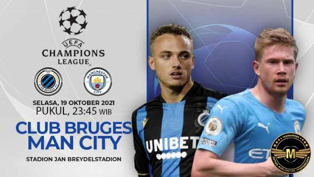 Prediksi Club Brugge Vs Manchester City