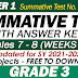 GRADE 3 UPDATED SUMMATIVE TESTS NO. 4 for SY 2021-2022 (Q1: Weeks 7-8) With Answer Keys