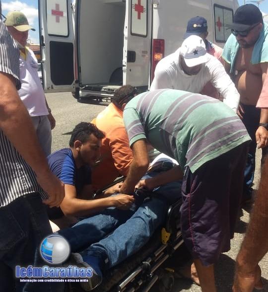 Acidente envolvendo carro e moto deixa uma pessoa ferida na RN-117 em Caraúbas