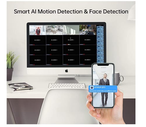 Abowone 16 Channels 5MP Hybrid 5-in-1 DVR Video Recorder
