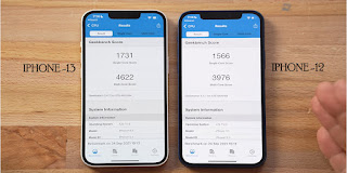 Iphone 12 and 13 perfomance check
