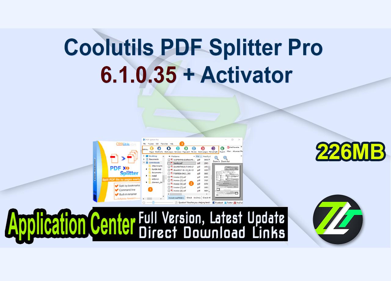 Coolutils PDF Splitter Pro 6.1.0.35 + Activator