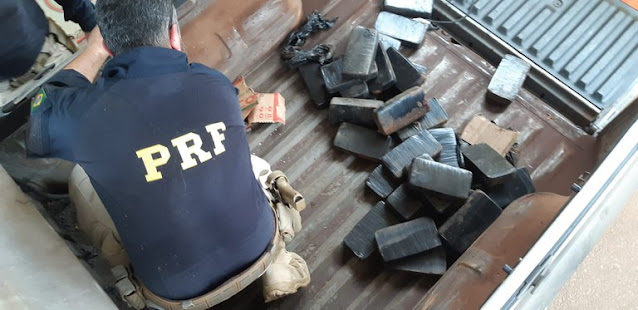 PRF apreende mais de trinta quilos de pasta base na Transbrasiliana