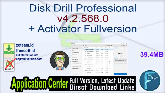 Disk Drill Professional v4.2.568.0 + Activator Fullversion