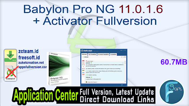 Babylon Pro NG 11.0.1.6 + Activator Fullversion