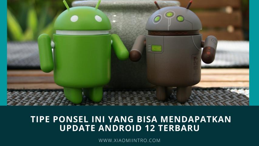 Ini Tipe Ponsel Ini Yang Bisa Mendapatkan Update Android 12 Terbaru