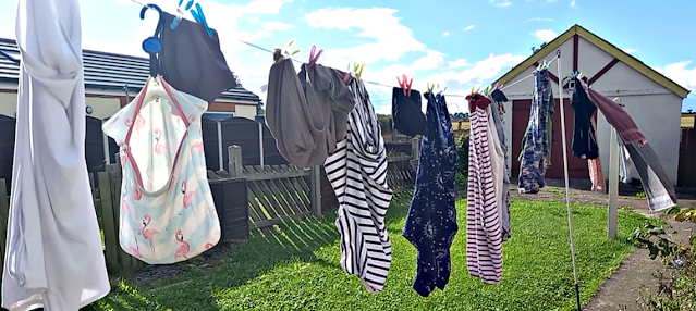 Washing out on the line