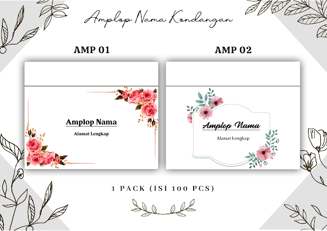 Download template amplop Undangan kekinian custom