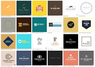 Ide template logo coffee shop keren siap edit - kanalmu