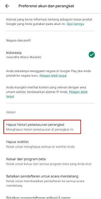 Cara Menghapus Riwayat Pencarian Play Store Secara Permanen