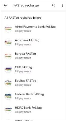 Select your fatsag provider bank name