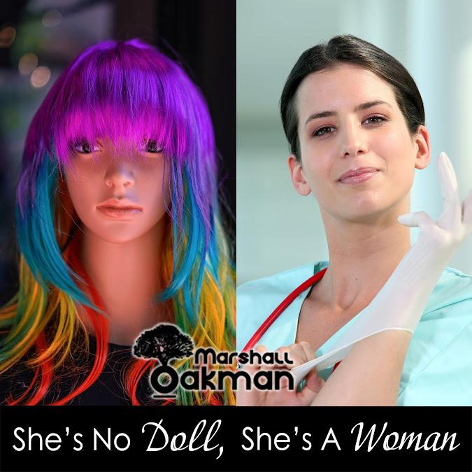 'She's No Doll, She's a Woman' by Marshall Oakman cover art