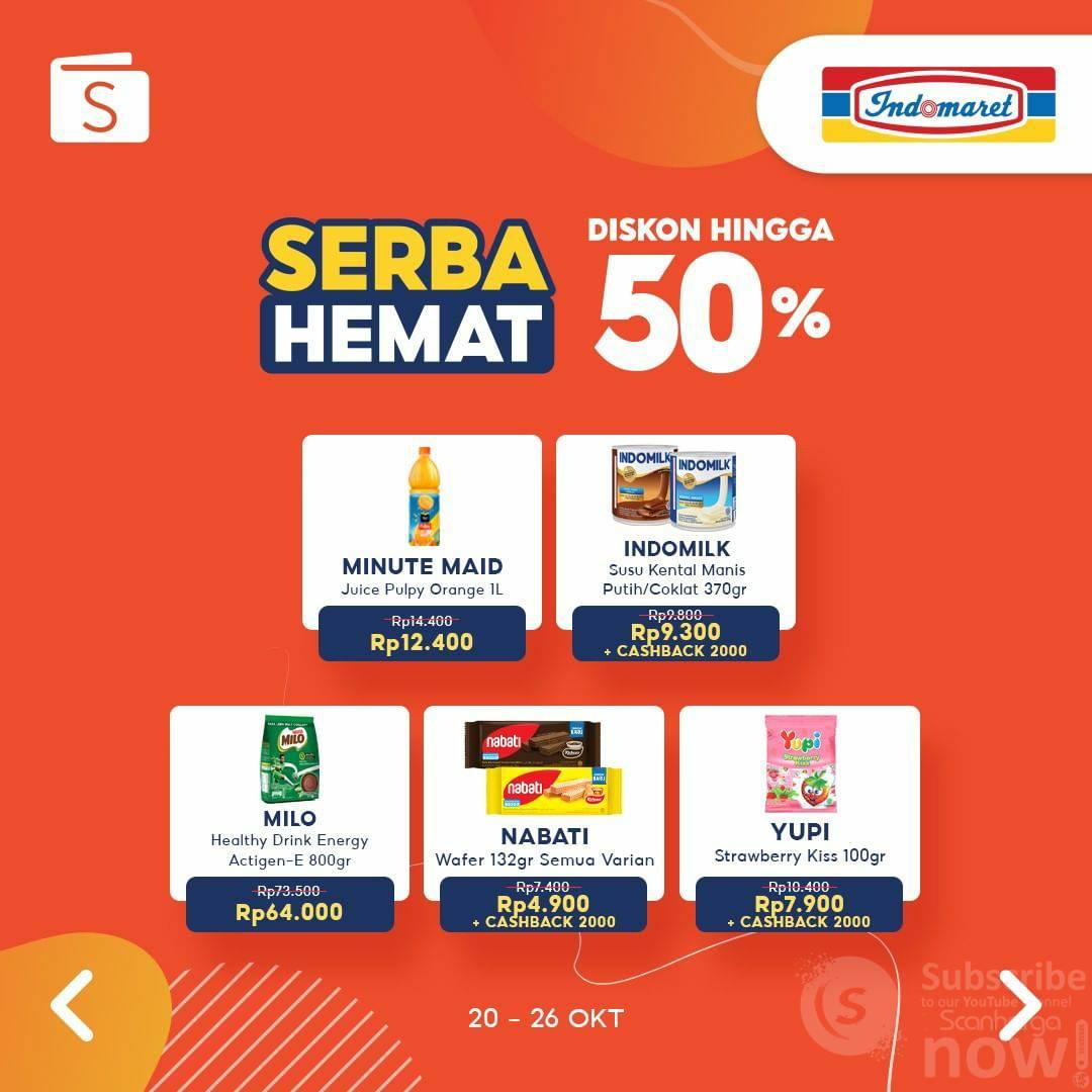 Indomaret  Promo Serba Hemat ShopeePay Diskon hingga 50%