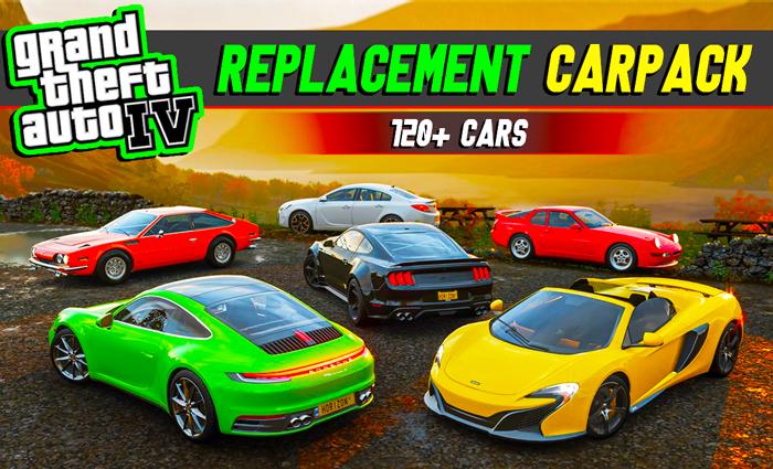GTA IV - Largest Replacement Carpack / 120+ Cars GTA 4 Mod
