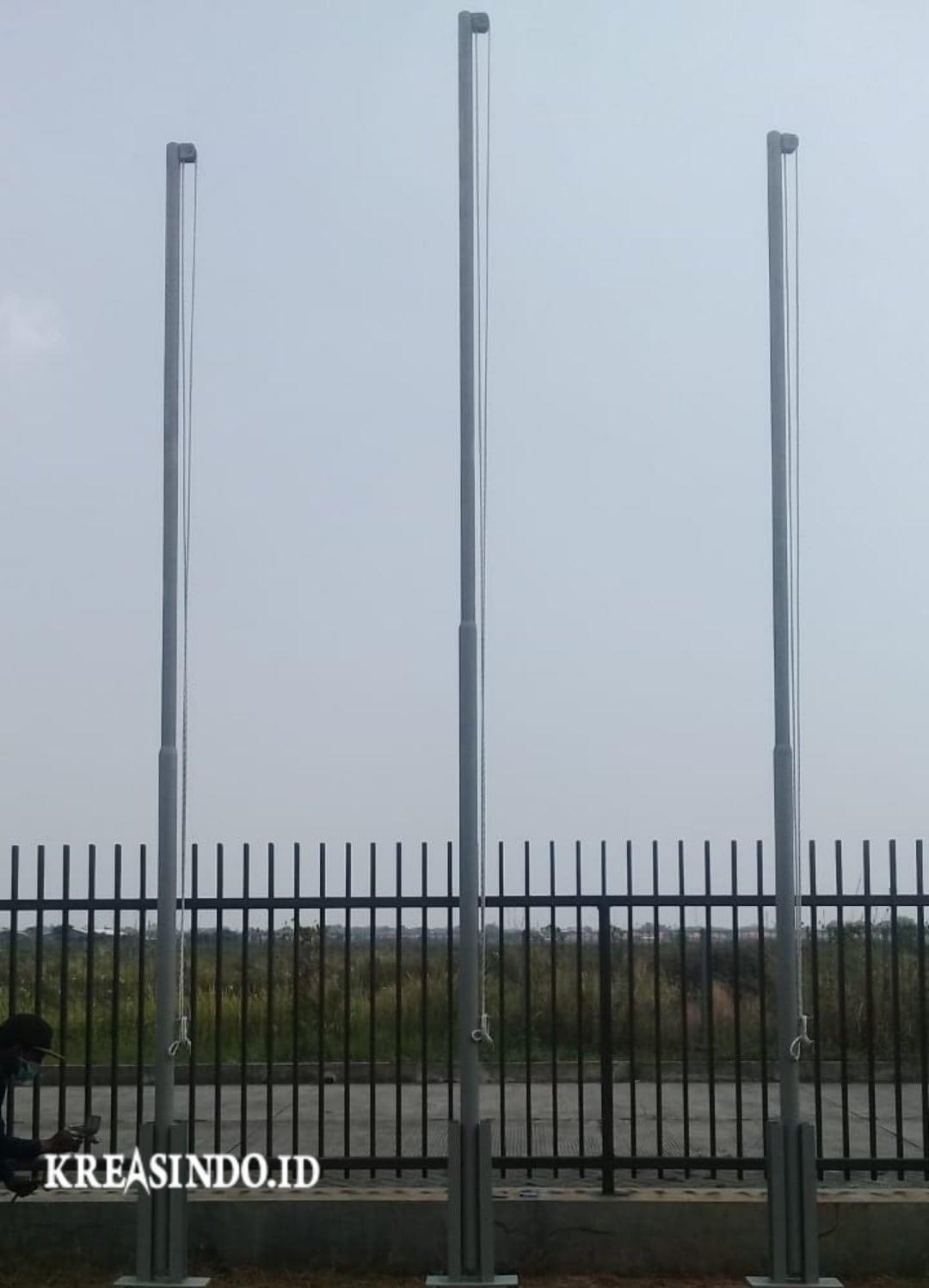 Daftar Harga Tiang Bendera Besi, Tiang Umbul-Umbul Besi dan Tiang Lampu Terbaru [ Harga Upadate Maret 2021 ]