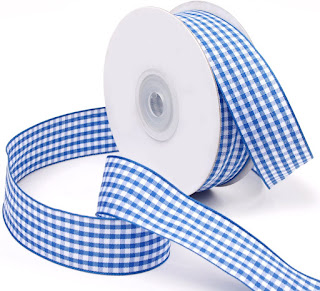 Attractive Blue Plaid Gingham Ribbons For All Crafting Projects