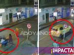 VIDEO: ¡Insólito! Ciudadana fue arrollada por motocicleta y después un taxi le pasó por encima
