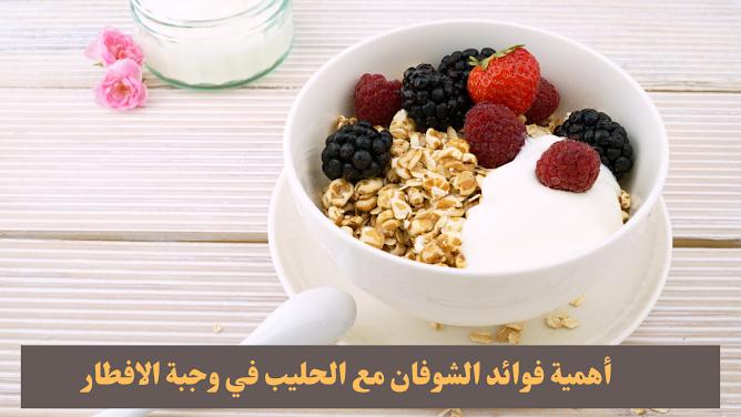 أهمية فوائد الشوفان مع الحليب في وجبة الافطار The benefits of oatmeal with milk for breakfast