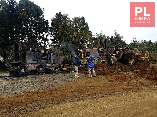 Ataque incendiario en la Región de Los Ríos